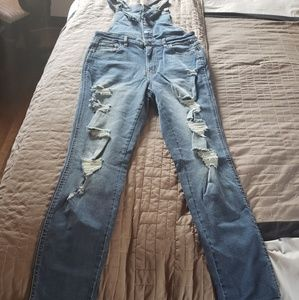 One-piece overalls size large